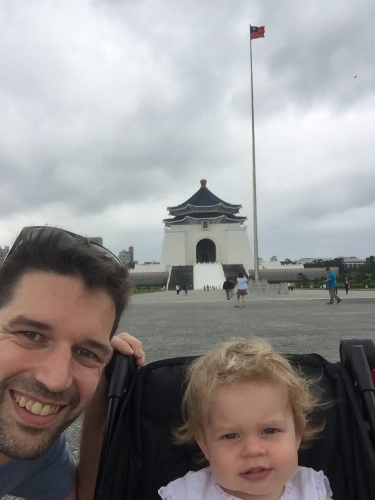 Lingo family at Chiang Kai Shek Memorial Hall