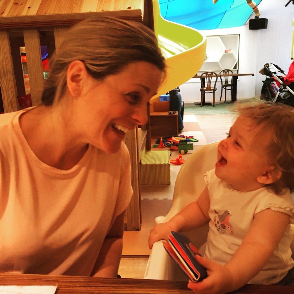 Lingo Mama and Bubba at Bear Kids Cafe in Taipei