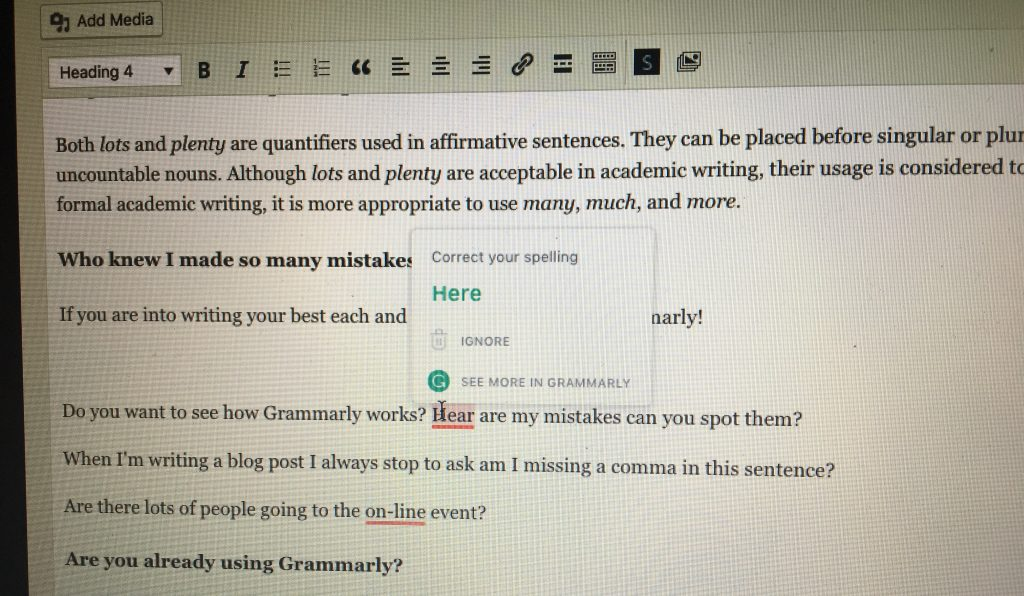 use Grammarly to improve your writing